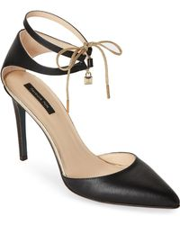 Patrizia Pepe - Pointed Toe Leather Ankle-tie Pumps - Lyst