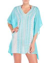 Spiaggia Dolce | Embroidered Aztec Tunic Cover-Up | Lyst