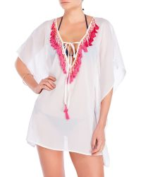 Spiaggia Dolce | Tassel Sheer Tunic Cover-Up | Lyst