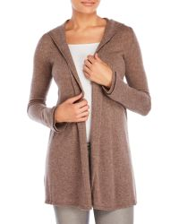 Forte - Open Front Cashmere Hoodie - Lyst