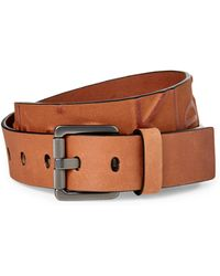 Calvin Klein - Whiskey Embossed Logo Leather Belt - Lyst