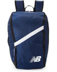 New Balance - Navy & White Team Ball Backpack - Lyst