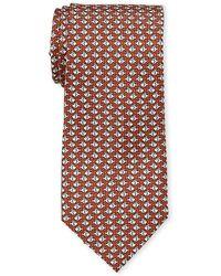 Battistoni - Orange Swimming Fish Silk Tie - Lyst