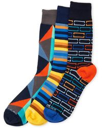 Unsimply Stitched - 3-pack Geo Stripe Crew Socks - Lyst