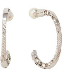 Givenchy - Silver-tone Crystal Hoop Earrings - Lyst