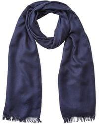 Prada - Frayed Wool Scarf - Lyst