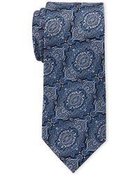 Isaac Mizrahi New York - Blue Paisley Silk Tie - Lyst