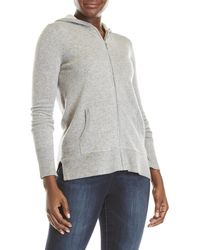 Ply Cashmere - Cashmere Zip-up Hoodie - Lyst