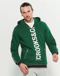 Crooks and Castles Core Full-zip Hoodie - Green