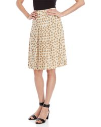 Ottod'Ame - Biscuit Print Pleated Skirt - Lyst