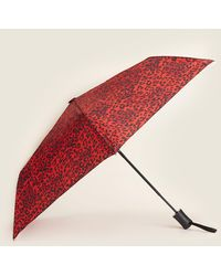 Steve Madden 3 Section Auto Open Umbrella - Red