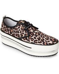 Patrizia Pepe - Leopard Platform Sneakers - Lyst