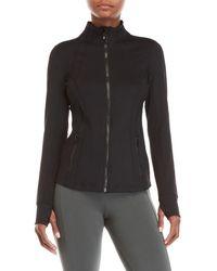 90 Degree By Reflex - Black Zip-up Athletic Jacket - Lyst