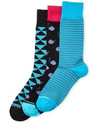 Unsimply Stitched - 3-pack Patterned Crew Socks - Lyst