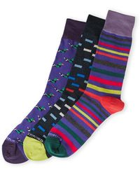 Unsimply Stitched - 3-Pack Duck Striped Crew Socks - Lyst