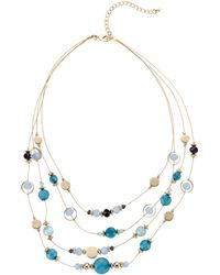 Catherine Stein Gold-tone Layered Necklace - Metallic