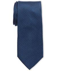 Calvin Klein Navy Classic Pindot Slim Silk Tie - Black