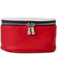 Fila Debossed Logo Zip-top Cosmetic Case - Red