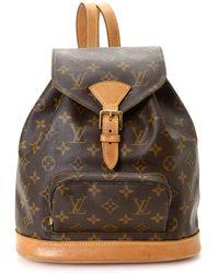 40c2a2627e2d Louis Vuitton - Pre-owned Montsouris Cloth Backpack - Lyst