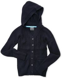 Eddie Bauer - (Girls 4-6X) Hooded Cable Knit Cardigan Sweater - Lyst
