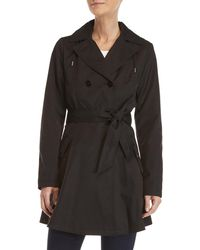 Laundry by Shelli Segal - Hooded Trench Coat - Lyst
