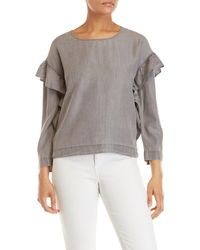 Two By Vince Camuto - Faded Ruffled Long Sleeve Woven Top - Lyst