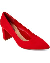 Isaac Mizrahi New York Coral Red Tonight Pointed Toe Pumps