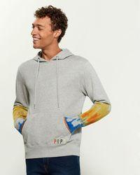PRPS Tie Dye Long Sleeve Hoodie - Gray