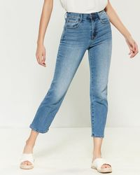 Jessica Simpson Infinite High-waist Stovepipe Crop Jeans - Blue