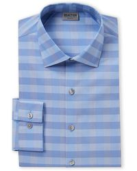 Kenneth Cole Reaction Lake Check Slim Fit Shirt - Blue