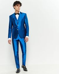 Dolce & Gabbana 3-piece Satin Blue Suit