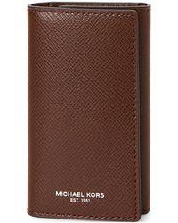 Michael Kors - Mocha Leather Valet Key Holder - Lyst