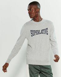 Wesc Superlative Long Sleeve Sweater - Gray
