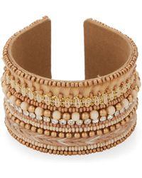 pannee by panacea Beaded Cuff Bracelet - Metallic