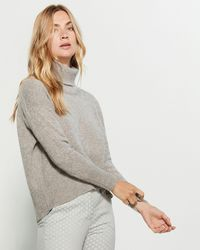 Peserico Gray Turtleneck Sweater