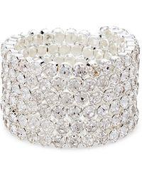 Natasha Couture Silver-tone Embellished Coil Bracelet - Metallic