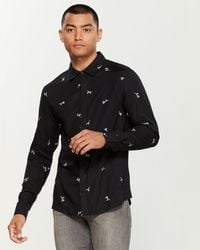 Native Youth Intricate Floral Ditsy Shirt - Black