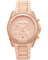 Michael Kors - Mk5263 Rose Gold-tone Blair Watch - Lyst