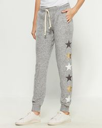 Sweet Romeo Yummy Stars Drawstring Sweatpants - Gray