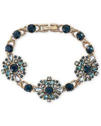 Marchesa - Gold-tone & Blue Flexible Bracelet - Lyst