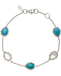 Anzie - Sterling Silver Pear Dew Drop Turquoise & Mother-Of-Pearl Bracelet - Lyst