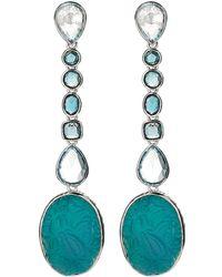 Stephen Dweck - Blue Topaz & Crystal Quartz Drop Earrings - Lyst