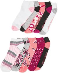 Betsey Johnson - 10-pack Roses Low-cut Socks - Lyst