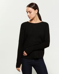 Sweet Romeo Yummy Long Sleeve Sweater - Black