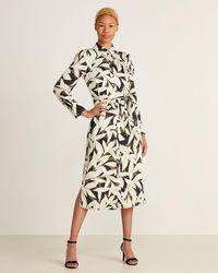 Equipment - Rosalee Leaf Print Long Sleeve Shirtdress - Lyst