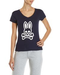 Psycho Bunny - Logo Bunny V-neck Tee - Lyst