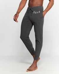 French Connection Charcoal Heather Logo Lounge Sweatpants - Gray