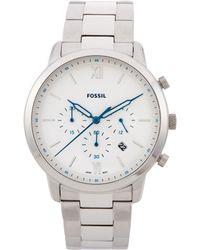 Fossil - Fs5433 Silver-tone Neutra Watch - Lyst