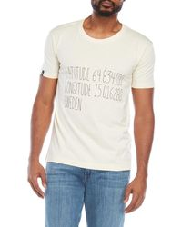 T-post - Latitude Longitude Tee - Lyst