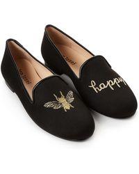 Jon Josef - Black Bee Happy Linen Loafers - Lyst